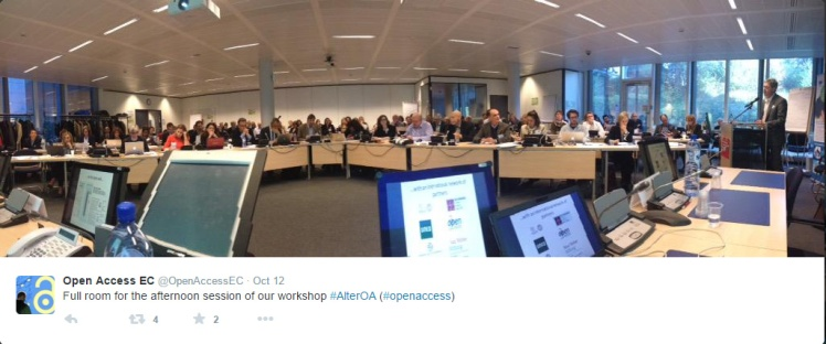High attendance at the workshop. Image: OpenAccess EC / Twitter