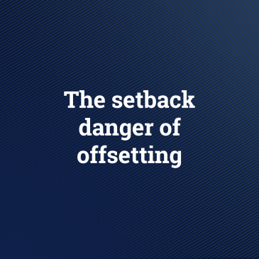 The setback danger of offsetting