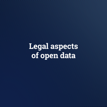 Legal aspects of open data